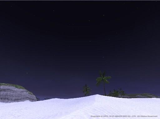 バルクルム砂丘の夜