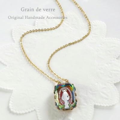 ヴィンテージ/聖母マリアのインタリオネックレス