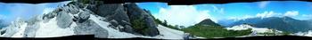 薬師岳、360°パノラマ