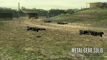 フルトン地雷を設置する