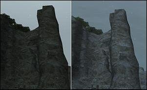 左がクリスタル1個、右が塊。
