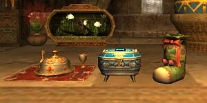 左:サンドリア様式、中央:バストゥーク様式、右:ウィンダス様式