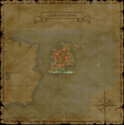 ヘディバ島マップ