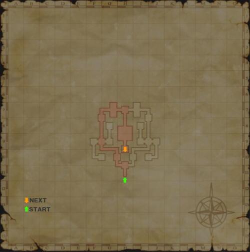 バフラウ遺構1層目書込map