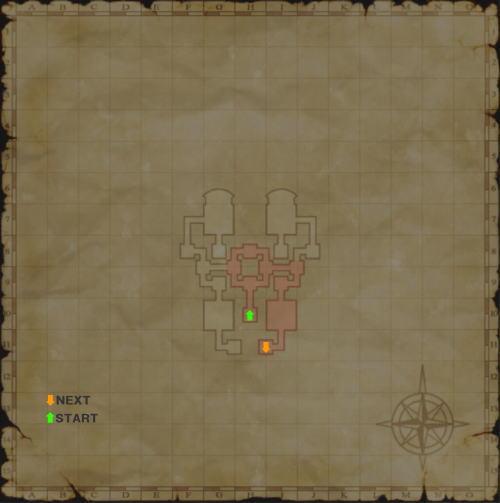 バフラウ遺構2層目書込map