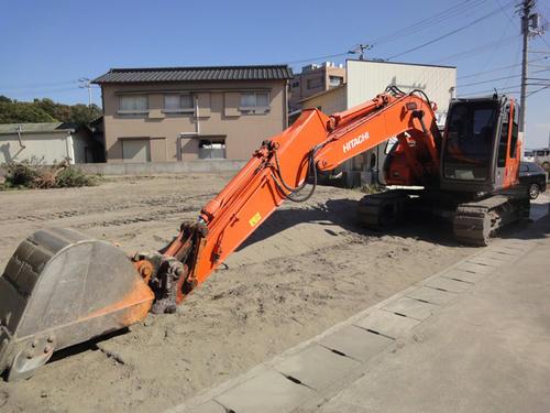 土と砂の除去