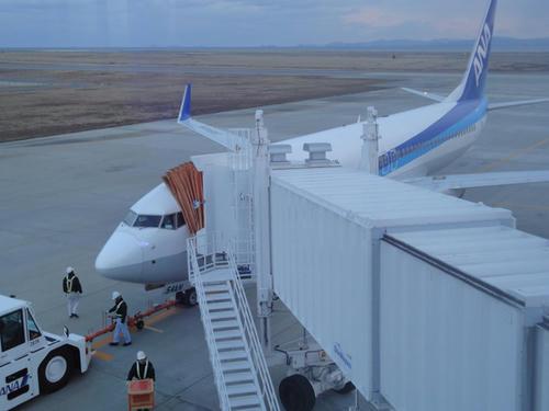 徳島空港にて