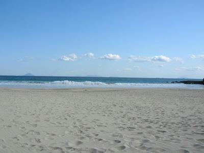 ある晴れた日の冬の海