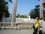 橋の開通式の準備