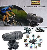 スポーツビデオカメラ(バイク等車載用小型ビデオカメラ)