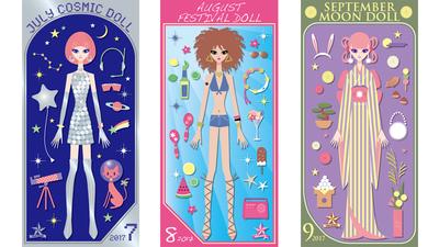 Tomoko Miyagami's Calendar Dolls 2017/7-9