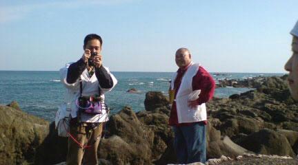 室戸岬の米裕さん&まえちゃん