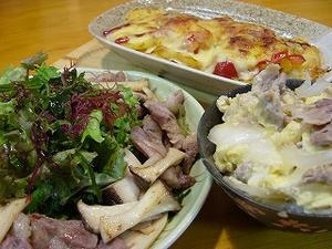 エリンギと豚肉の炒め物