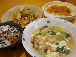 チンゲン菜のとろみスープ