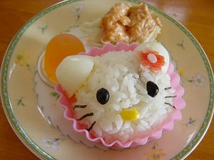 キティちゃんのお昼ご飯