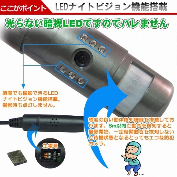 ソーラー充電式防犯カメラ