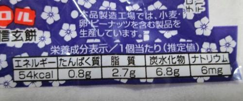 チロル信玄餅(栄養成分)