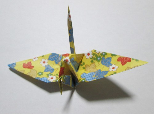 折り紙鶴正面