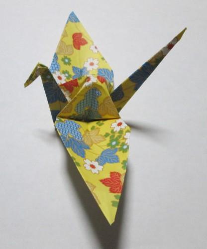 折り紙鶴横