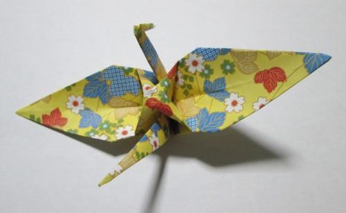 折り紙鶴後ろ
