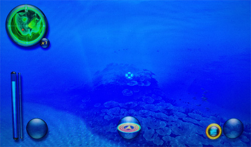 現在デジカメでとっているので画像わるいですが、このゲームなんと物語り進め... 海中探索ダイビン