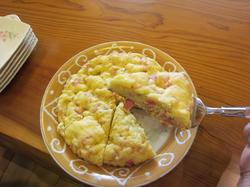 じゃがいもとソーセージのケーキ朝食に最適