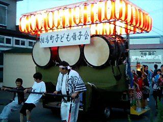相馬町のネブタ囃子屋台