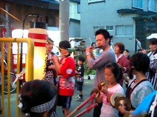 相馬町ネブタの笛と鉦