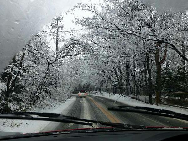 雪の栃木県道30号矢板那須線