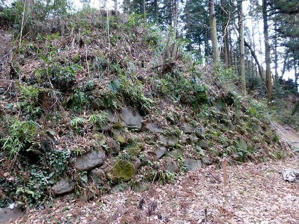 堀の底にある石垣