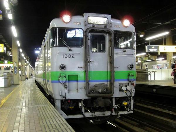 札幌駅から乗車したJR札沼線のディーゼルカー