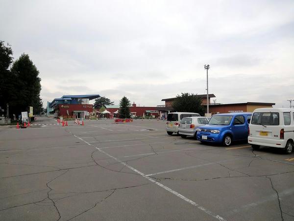 駐車場から見た帯広競馬場