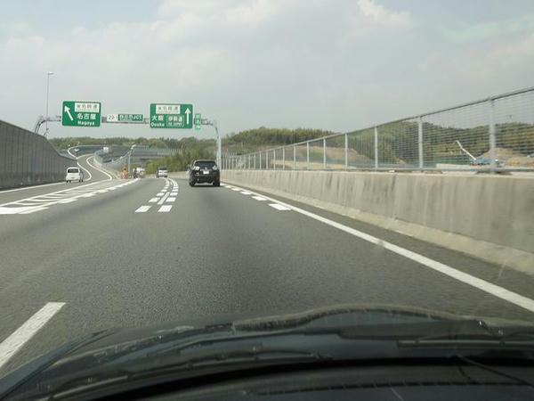 四日市JCTから東名阪道へ