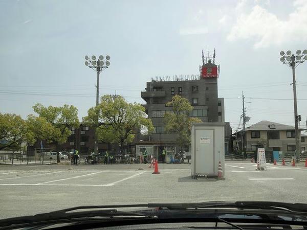 園田競馬場に到着