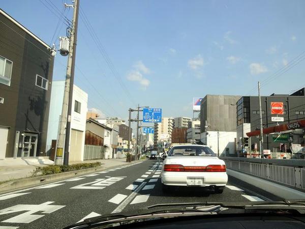 大阪市内を走行中