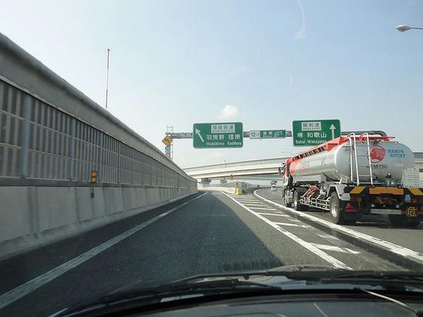 美原JCTから南阪奈道へ美原JCTから南阪奈道へ