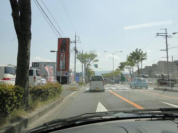 河内長野市内の国道170号バイパス