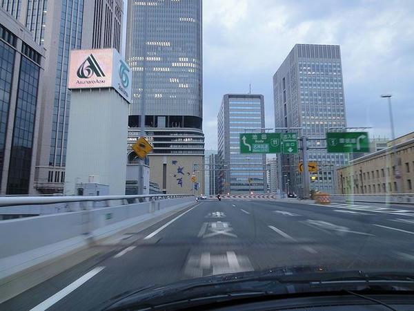 阪神高速走行中