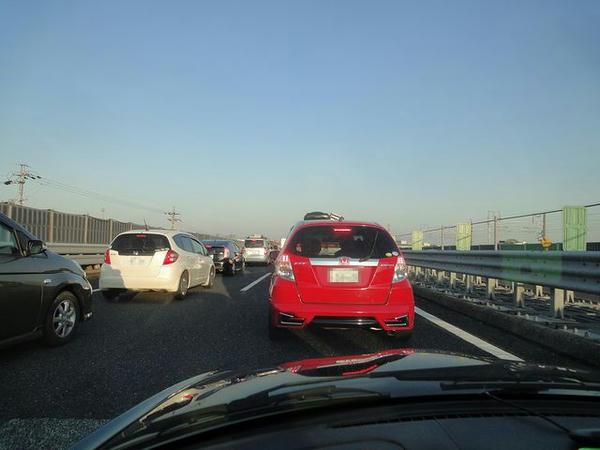一宮IC付近の渋滞