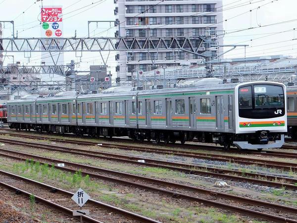 湘南色の205系電車