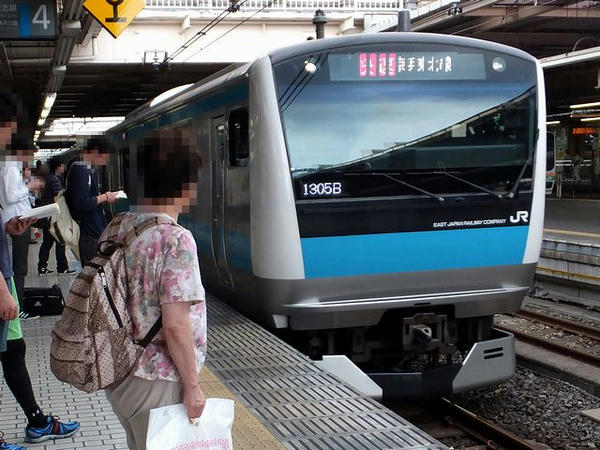 JR京浜東北線大船行き快速列車