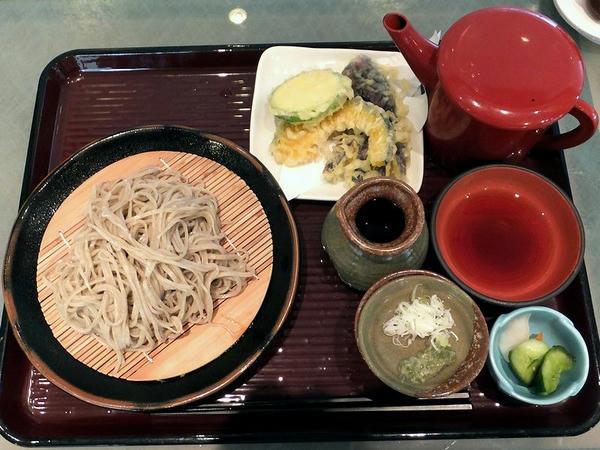 内川そば+本日の天ぷら(三種盛り)