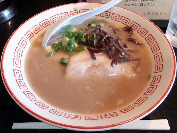 濃豚ラーメン(細麺・カタ)
