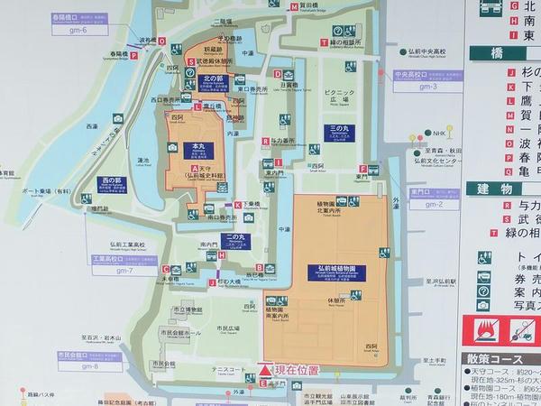 城内の案内図