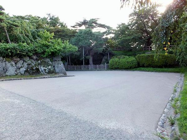 本丸入口の虎口