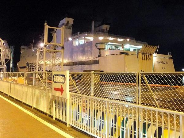 入港するブルードルフィン