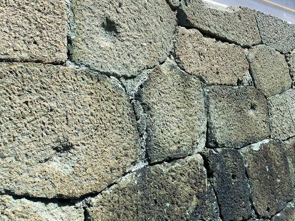 天守石垣に残る戊申戦争時の弾痕