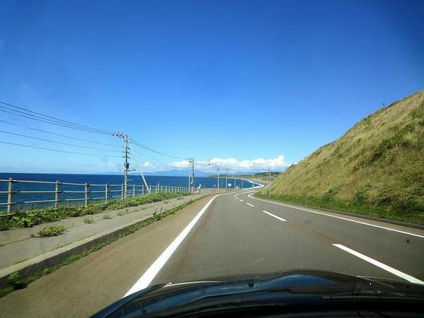 日本海を見ながら