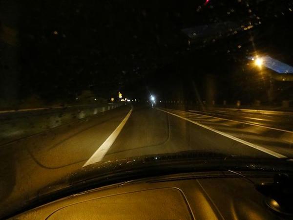 夜の日高道走行中