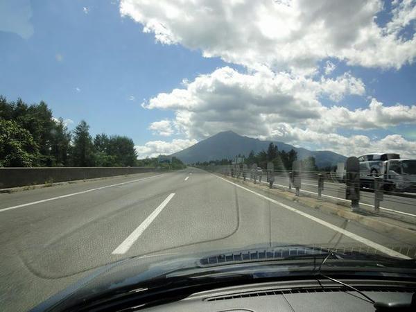 岩手山を見ながら